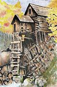 Sokolovich Painting Prints - Old Mill In The Rockies Print by Ann Sokolovich