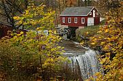 J R Baldini Metal Prints - Old Mill Metal Print by J R Baldini