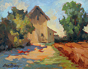 Wineries Painting Prints - Old Mill Provence Print by Diane McClary