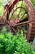 Grist Mill Photos - Old Mill Waterwheel by Wayne Nielsen