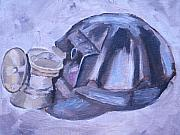 Coal Metal Prints - Old Miner Hat Metal Print by Mikayla Henderson