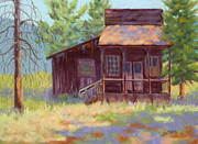 Old Town Pastels Prints - Old Mining Store Print by Nancy Jolley