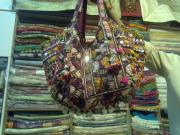 Ethnic Tapestries - Textiles - Old Mirror Work Bag by Dinesh Rathi
