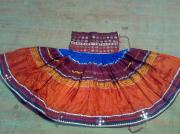 Ethnic Tapestries - Textiles - Old Mirror Work Skirt by Dinesh Rathi
