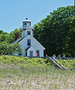Traverse Bay Photos - Old Mission Point Lighthouse 5306 by Michael Peychich