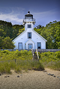 Traverse Bay Photos - Old Mission Point Lighthouse in Grand Traverse Bay Michigan Number 2 by Randall Nyhof