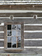 Cabin Window Framed Prints - Old Mission Reflections Framed Print by Kelly Mezzapelle