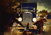 Antique Digital Art Originals - Old Model T by Holly Ethan