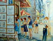Old Montreal Street Scene Print by Carole Spandau