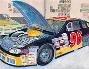 Display Cars Paintings - Old Nascar Beauty by Gary Roderer