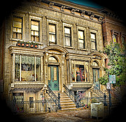 Brownstone Art - Old Neigborhood by Arnie Goldstein