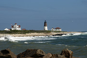 Old New England Lighthouse Print by Barry Doherty