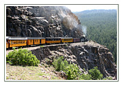 Durango Framed Prints - Old  No. 482 uphill to Silverton Framed Print by Jack Pumphrey