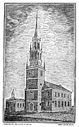 Old Christ Church Prints - Old North Church, 1775 Print by Granger