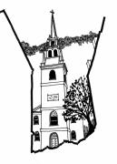 Old Church Drawings Posters - Old North Church Poster by Rich Brumfield