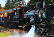 Fall Photos Prints - Old Number Three_Climax Locomotive_Durbin Rocket WV Print by Kathleen K Parker