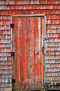 Old Orange Door  Print by Garry Gay