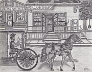 Horse And Buggy Drawings - Old Order Friends by Alfred James Dill