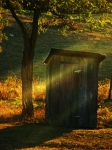 Outhouse Posters - Old Outhouse at Sunset Poster by Joyce L Kimble