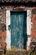 Gaspar Avila Framed Prints - Old painted door Framed Print by Gaspar Avila