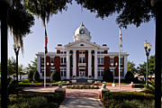 Pasco County Framed Prints - Old Pasco County Courthouse Framed Print by Les Griffith