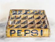Pepsi Painting Prints - Old Pepsi crate Print by Sandie Keyser