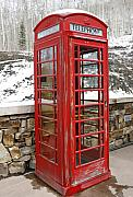 Communication Photos - Old Phone Booth by Marilyn Hunt