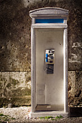Retro Phone Framed Prints - Old phonebooth Framed Print by Carlos Caetano