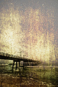 Ebb And Flow Prints - Old Photo of an Ocean Pier Print by Skip Nall