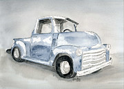 Wheels Drawings Posters - Old Pick Up Truck Poster by Eva Ason