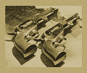 Revolvers Photos - Old Pistols by Clarence Alford