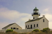 Gloomy Prints - Old Point Loma Lighthouse - Cabrillo National Monument San Diego CA Print by Christine Till