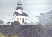 Historic Site Mixed Media Metal Prints - Old Point Loma Lighthouse Metal Print by James Lyman