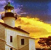 Point Loma Digital Art Prints - Old Point Loma Lighthouse Print by Russ Harris