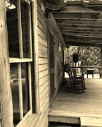 Rocking Chairs Photos - Old porch by Robert Ulmer