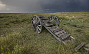 West Africa Digital Art - Old Prairie Wheel Cart Saskatchewan by Mark Duffy