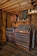 Compositor Photos - Old Print Shop by Susan Candelario