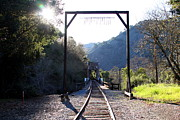 Old Railroad Bridge At Near Historic Niles District In California . 7d12747 Print by Wingsdomain Art and Photography
