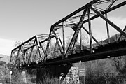Railroads Photos - Old Railroad Bridge at Union City Limits near Historic Niles District in California . 7D10736 . bw by Wingsdomain Art and Photography