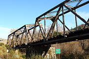 Railroads Photos - Old Railroad Bridge at Union City Limits near Historic Niles District in California . 7D10736 by Wingsdomain Art and Photography