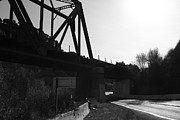 Railroads Photos - Old Railroad Bridge at Union City Limits near Historic Niles District in California . 7D10742 . bw by Wingsdomain Art and Photography