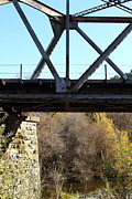 Old Railroad Bridge At Union City Limits Near Historic Niles District In California . 7d10743 Print by Wingsdomain Art and Photography