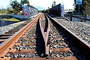 Old Railroad Bridge In Fremont California Near Historic Niles District In California . 7d12678 Print by Wingsdomain Art and Photography