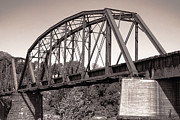 Iron Rail Framed Prints - Old Railroad Bridge Framed Print by Olivier Le Queinec