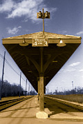 Wooden Platform Metal Prints - Old Railway Platform Metal Print by Gordon Wood