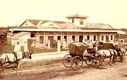 Cart Art - Old Railway Station nineteenth century by Mario  Perez