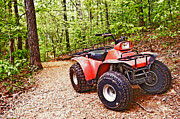 Susan Leggett Art - Old Red ATV by Susan Leggett