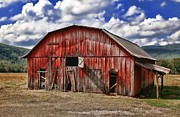 South Arkansas Prints - Old Red Barn Print by Renee Hardison