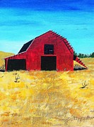 Old Barn Paintings - Old Red Barn by Scott Pelham