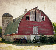 Tamera James Prints - Old Red Barn Print by Tamera James